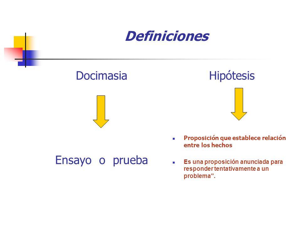 DOCIMASIA DE HIPOTESIS Se refiere a la comparación de los resultados obtenidos en dos o más grupos sometidos a tratamientos diferentes.
