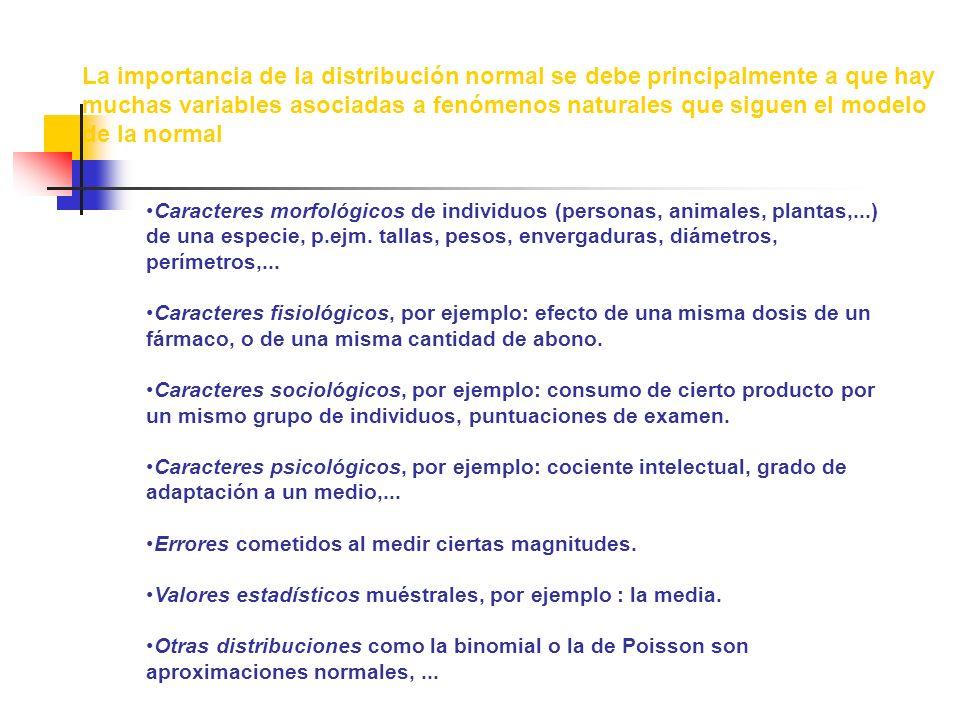 Caracteres morfológicos de individuos (personas, animales, plantas,...) de una especie, p.ejm.