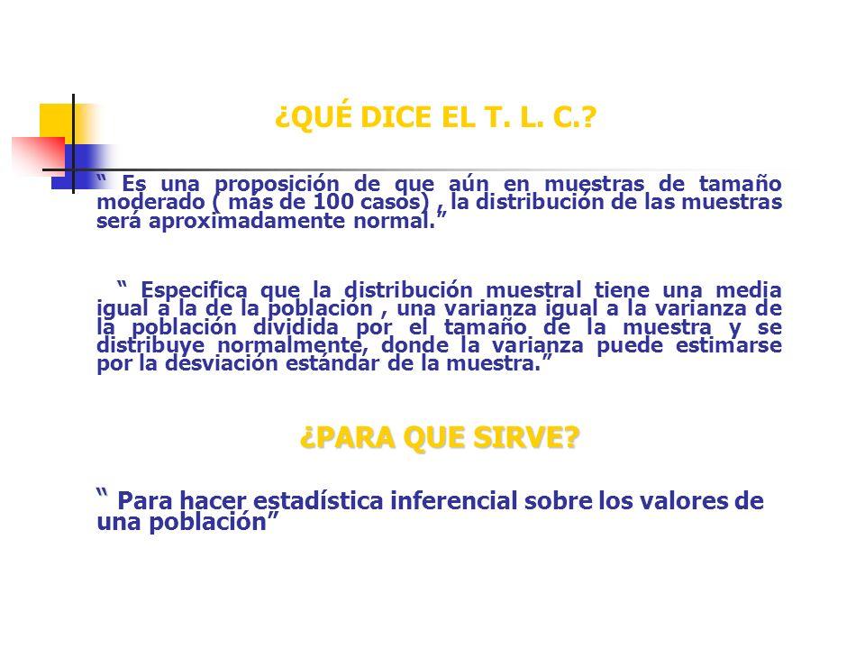 ¿QUÉ DICE EL T.L. C..
