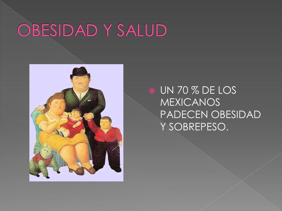 EN 10 AÑOS EL 90 % DE LA POBLACION MEXICANA PODRIA SUFRIR DE SOBREPESO Y OBESIDAD.