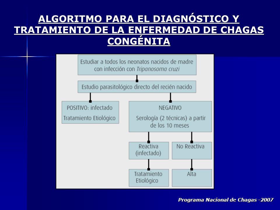 Programa Nacional de Chagas -2007 ALGORITMO PARA EL DIAGNÓSTICO Y TRATAMIENTO DE LA ENFERMEDAD DE CHAGAS CONGÉNITA