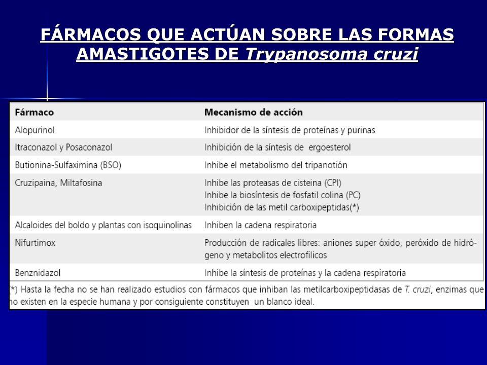 FÁRMACOS QUE ACTÚAN SOBRE LAS FORMAS AMASTIGOTES DE Trypanosoma cruzi