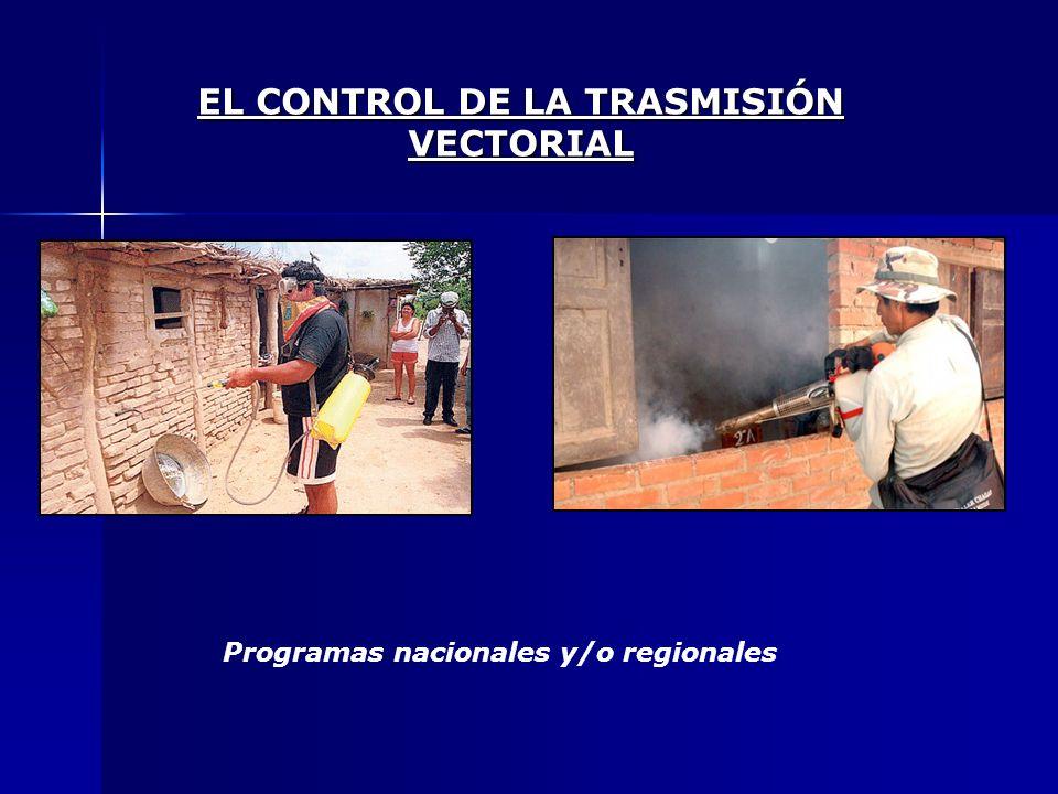 EL CONTROL DE LA TRASMISIÓN VECTORIAL Programas nacionales y/o regionales