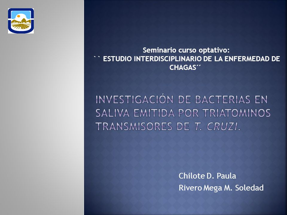 Chilote D. Paula Rivero Mega M. Soledad Seminario curso optativo: `` ESTUDIO INTERDISCIPLINARIO DE LA ENFERMEDAD DE CHAGAS´´