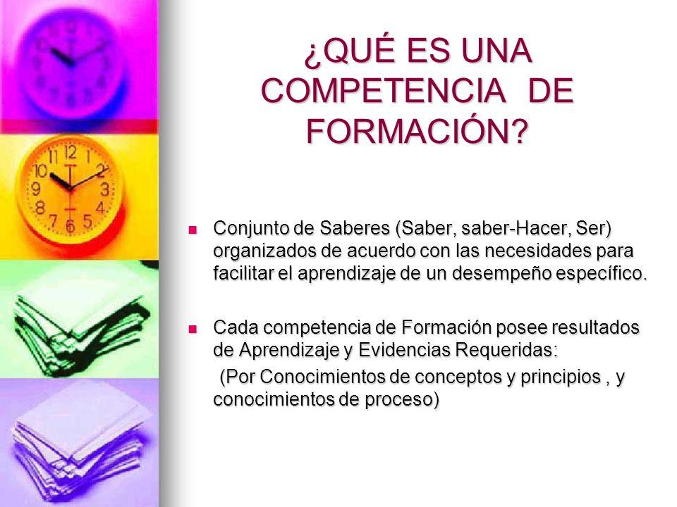 CONTENIDOS DE LA COMPETENCIA DE FORMACIÓN DENOMINACIÓN.