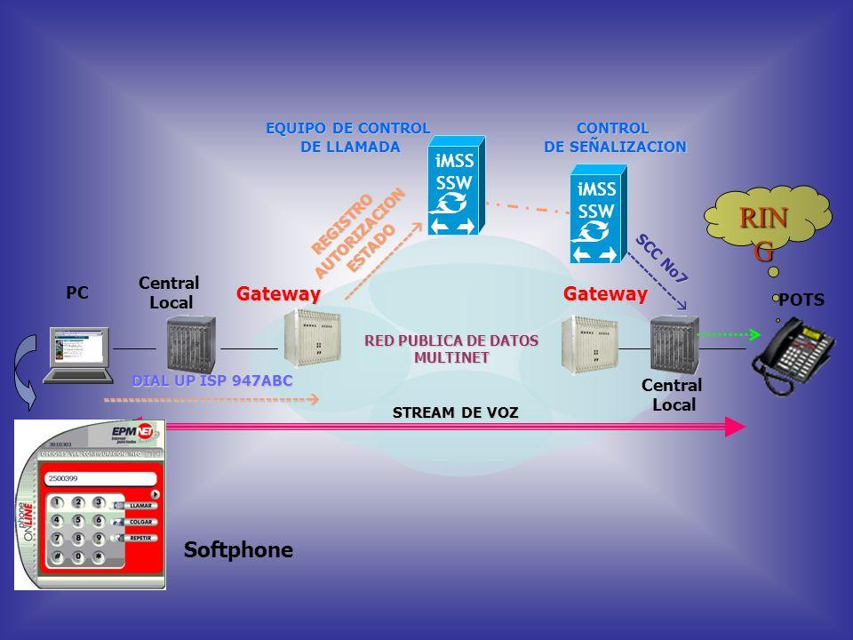 Permite al usuario de EPM.NET hacer llamadas desde su PC a un teléfono fijo de la red telefónica de las Empresas Públicas de Medellín, mientras se enc