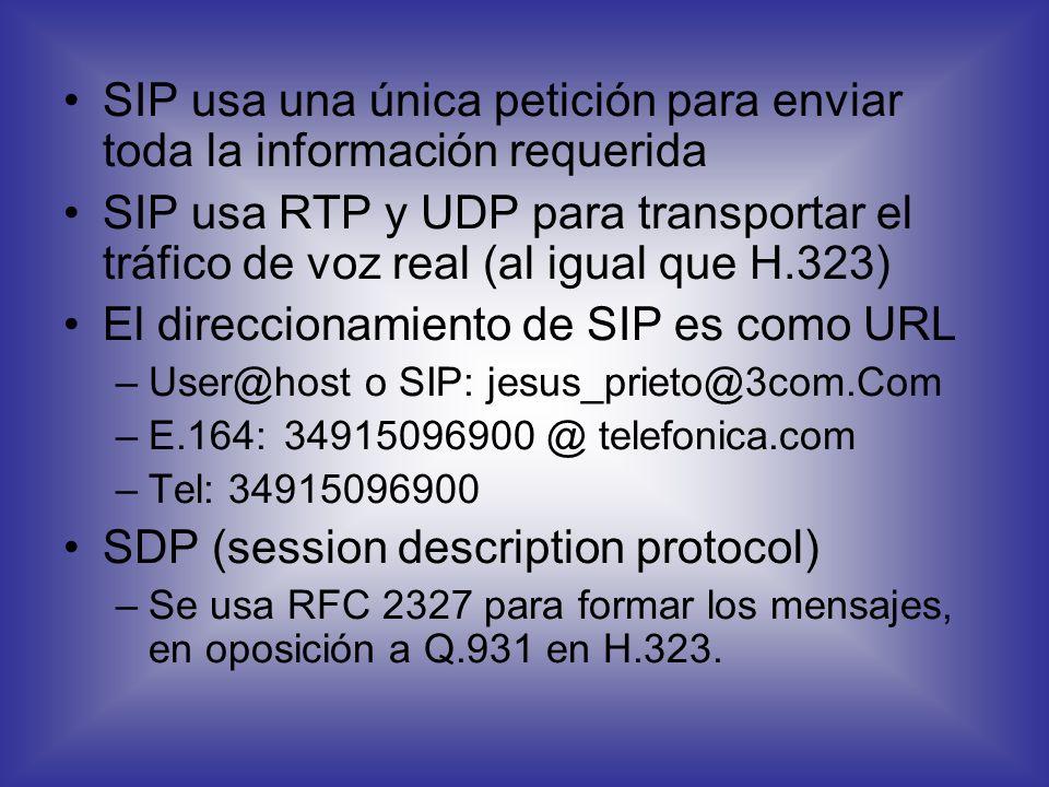 SIP es un protocolo abierto de tipo Internet usado para iniciar, gestionar y terminar sesiones de comunicaciones interactivas, incluyendo llamadas de
