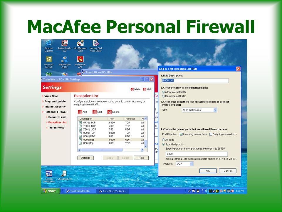 MacAfee Personal Firewall