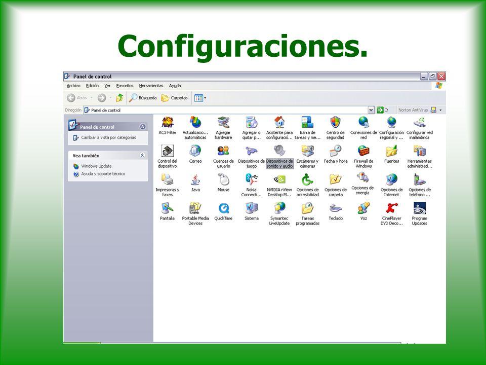 Configuraciones.