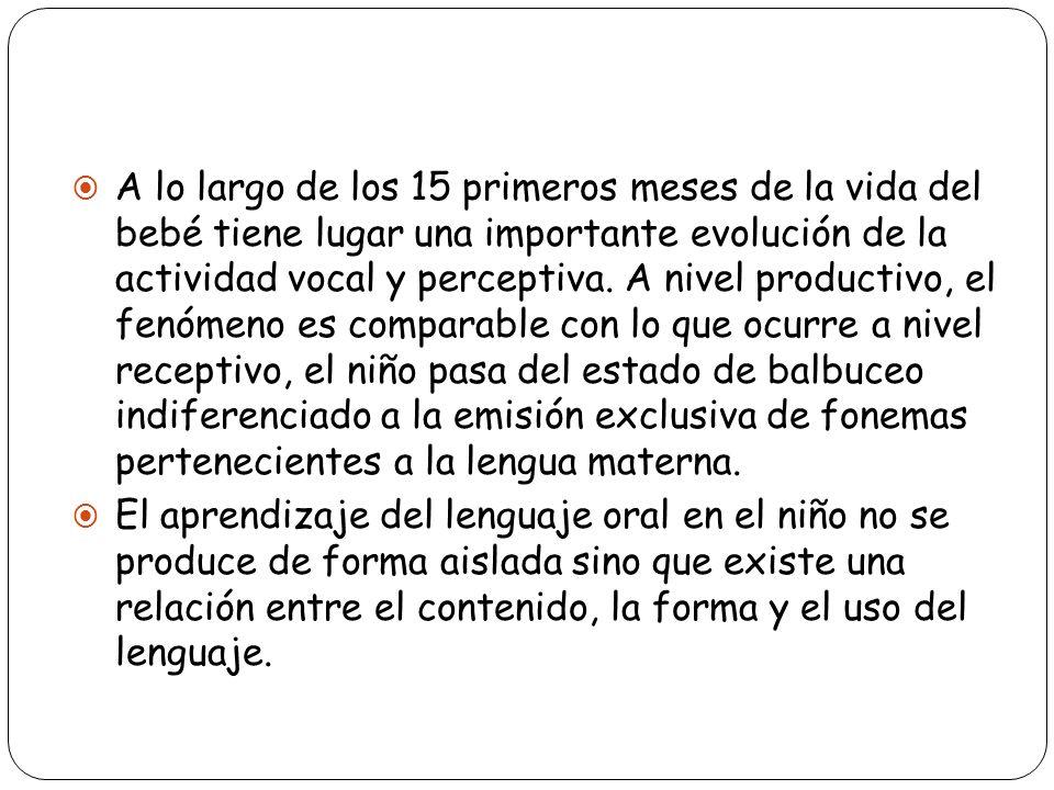 Condiciones que influyen en el desarrollo del lenguaje : Normalidad de los órganos lingüísticos, tanto receptivo (capacidad auditiva o visual y cortical), como productivos (capacidad de ideación y capacidad articulatoria).