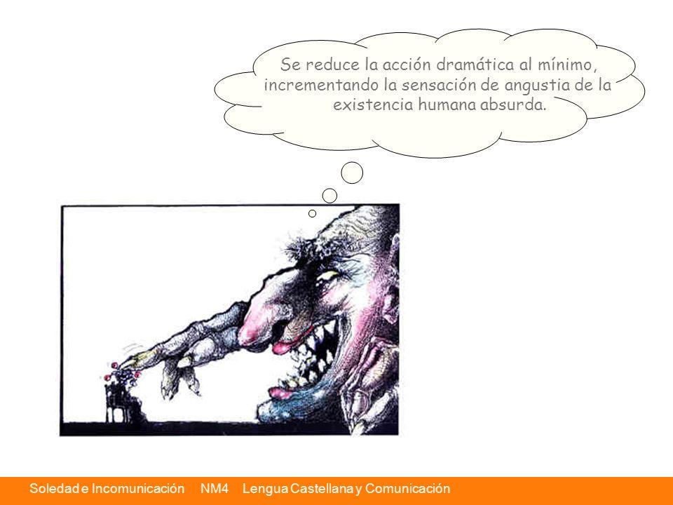 Soledad e Incomunicación NM4 Lengua Castellana y Comunicación Textos destacados Se reduce la acción dramática al mínimo, incrementando la sensación de