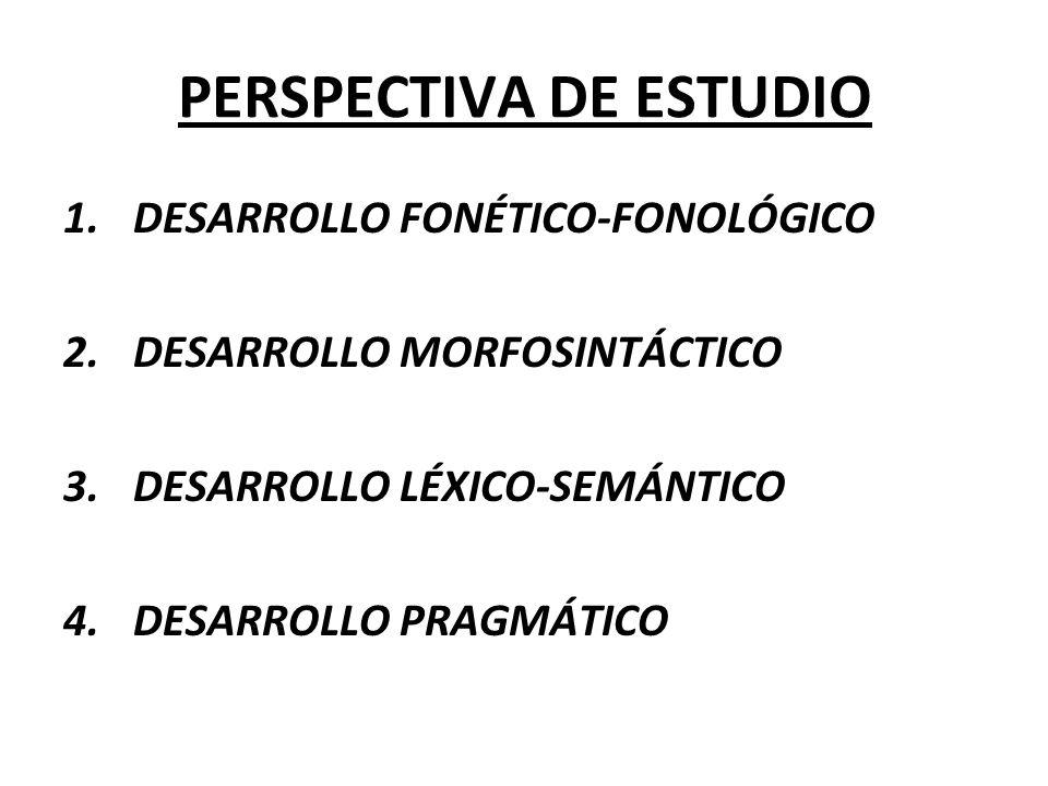 ADQUISICIÓN Y DESARROLLO DEL SISTEMA FONOLÓGICO