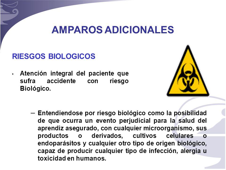 11 RIESGOS BIOLOGICOS Atención integral del paciente que sufra accidente con riesgo Biológico.