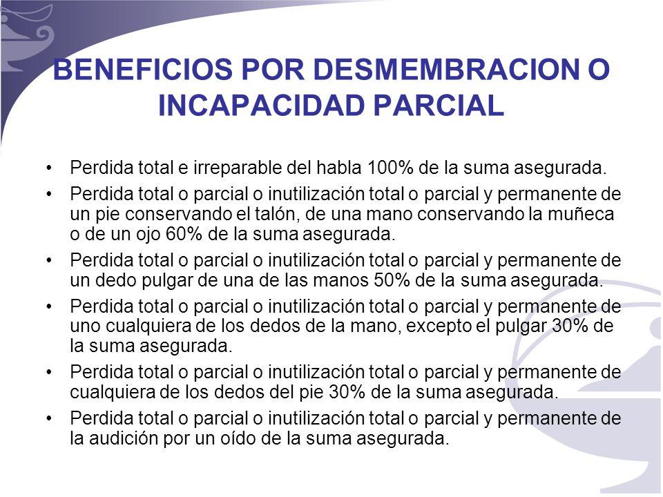 8 REHABILITACIÓN POR INVALIDEZ – Si el asegurado sufre una invalidez a consecuencia de un accidente cubierto por esta póliza, que al ser calificada de acuerdo con la ley 100 y sus decretos reglamentarios sea superior al 66%.