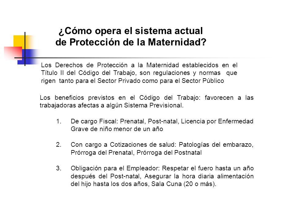 ¿Cómo opera el sistema actual de Protección de la Maternidad? Los Derechos de Protección a la Maternidad establecidos en el Título II del Código del T