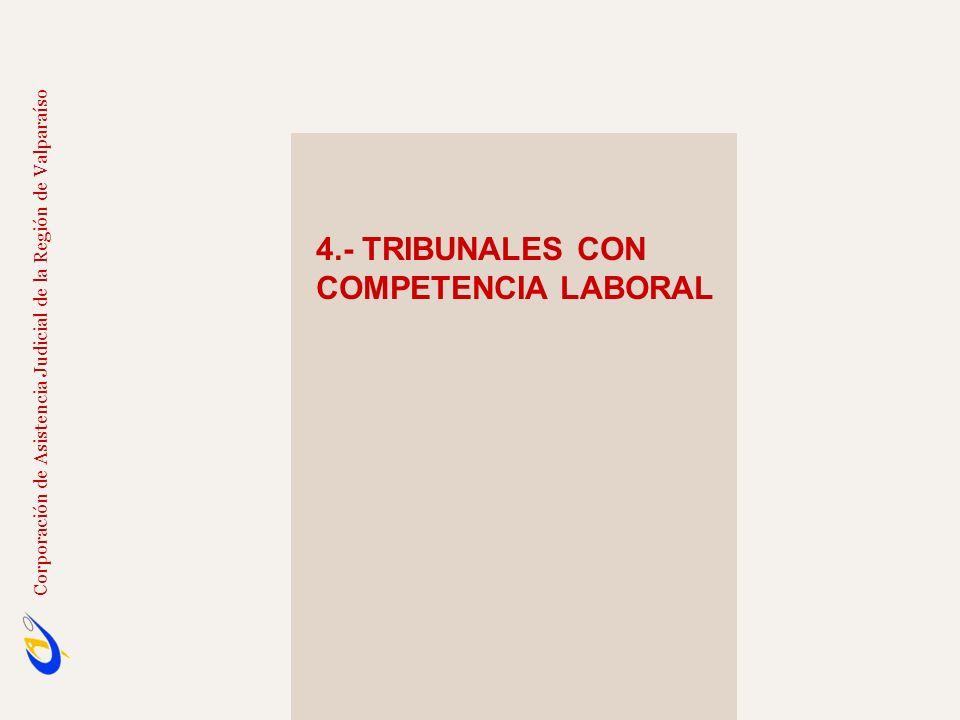 4.- TRIBUNALES CON COMPETENCIA LABORAL Corporación de Asistencia Judicial de la Región de Valparaíso