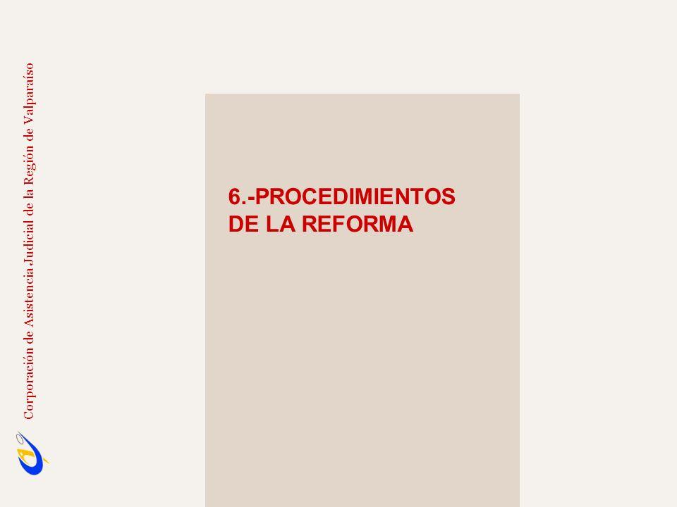 6.-PROCEDIMIENTOS DE LA REFORMA
