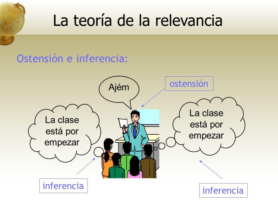 Ostensión e inferencia: Ajém La clase está por empezar La teoría de la relevancia ostensión inferencia