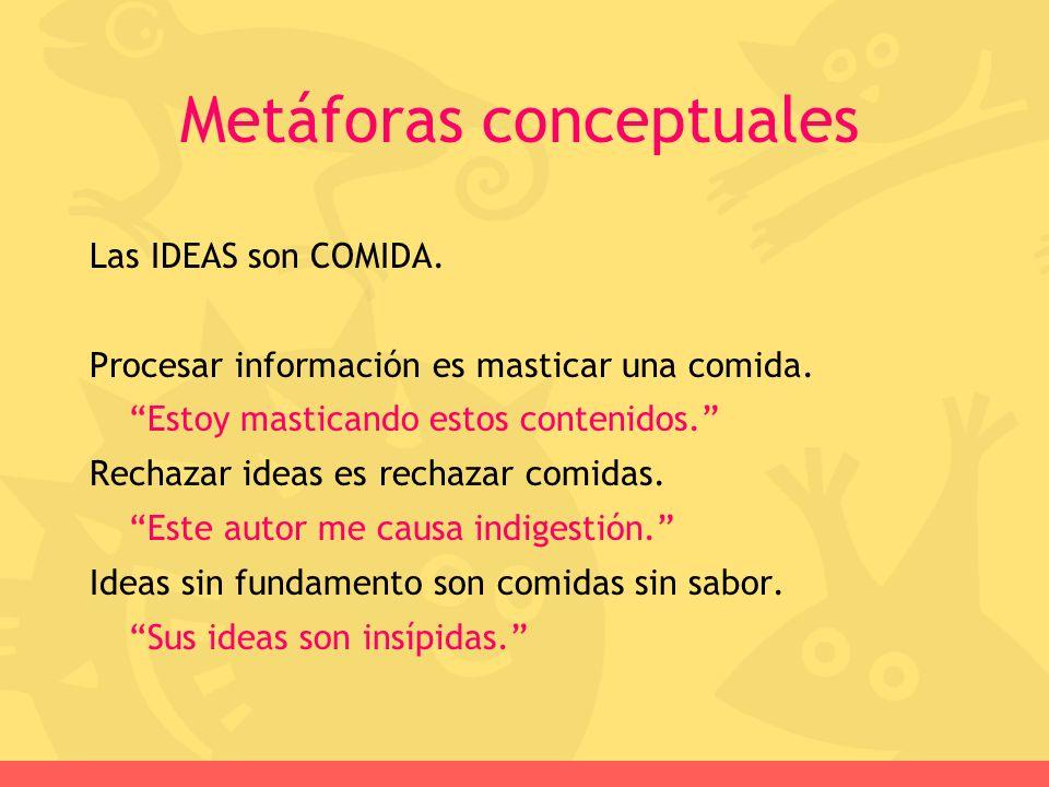 Las IDEAS son COMIDA. Procesar información es masticar una comida. Estoy masticando estos contenidos. Rechazar ideas es rechazar comidas. Este autor m