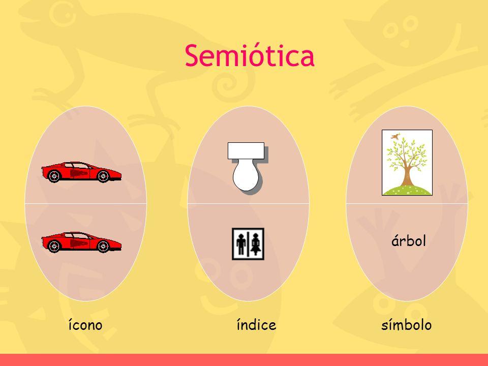 Semiótica árbol íconoíndicesímbolo