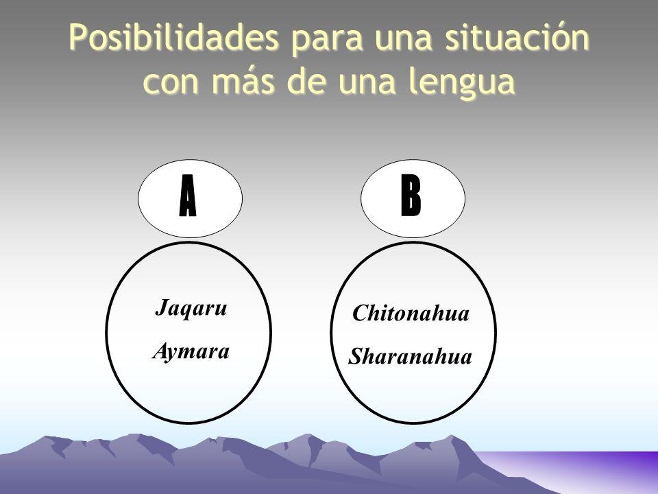 Jaqaru Aymara Chitonahua Sharanahua Posibilidades para una situación con más de una lengua