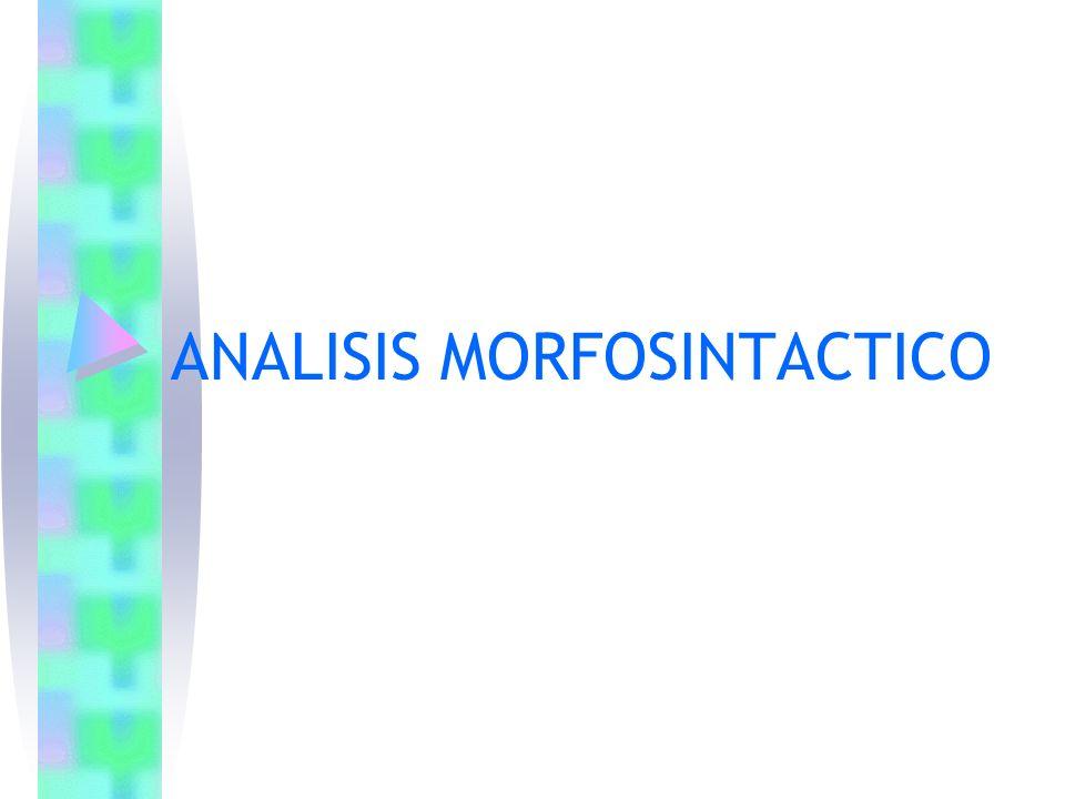ANALISIS MORFOSINTACTICO