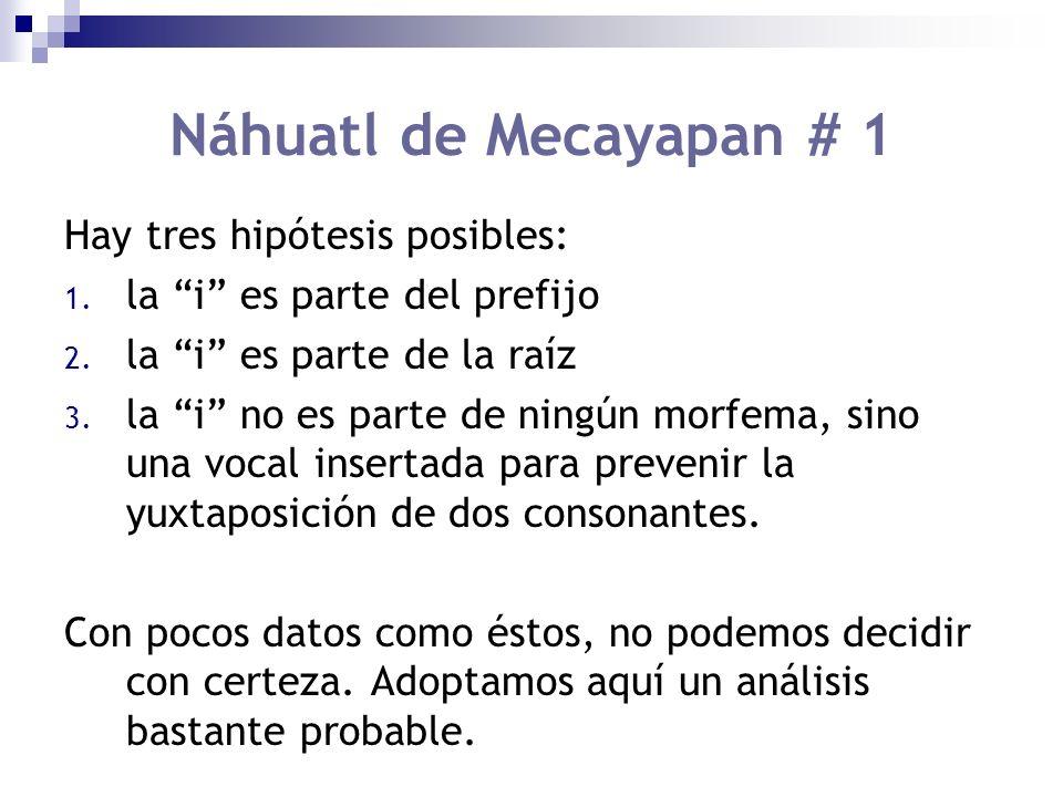 Hay tres hipótesis posibles: 1.la i es parte del prefijo 2.