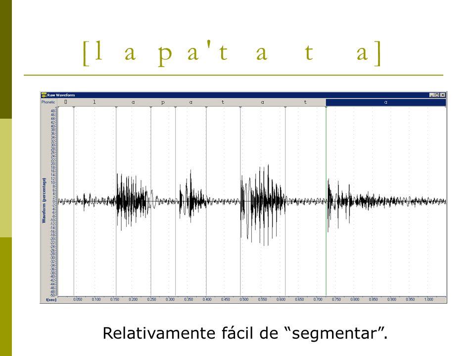 [ l a p a ' t a t a ] Relativamente fácil de segmentar.