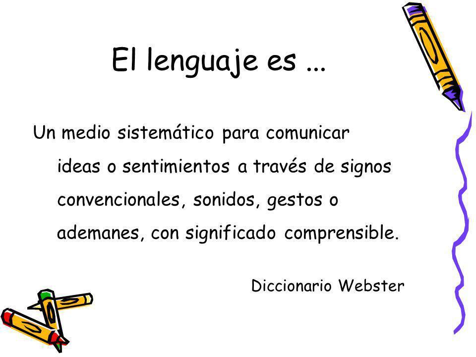Un medio sistemático para comunicar ideas o sentimientos a través de signos convencionales, sonidos, gestos o ademanes, con significado comprensible.