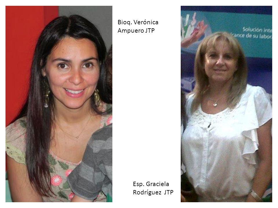 Bioq. Verónica Ampuero JTP Esp. Graciela Rodríguez JTP