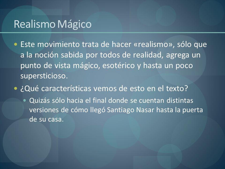 Realismo Mágico Este movimiento trata de hacer «realismo», sólo que a la noción sabida por todos de realidad, agrega un punto de vista mágico, esotéri