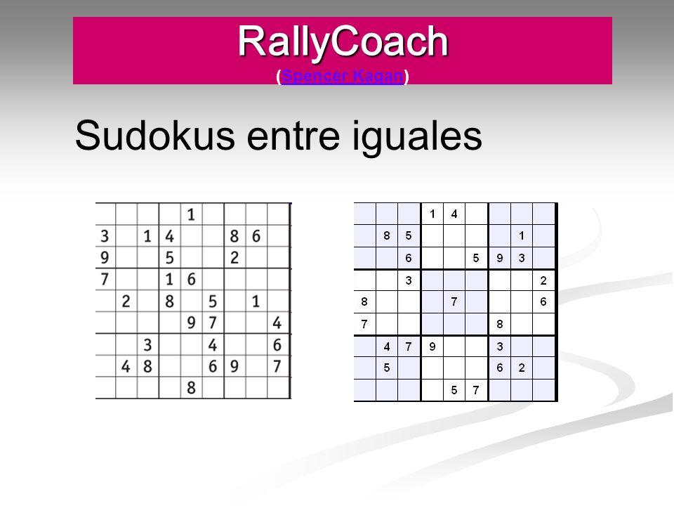 RallyCoach RallyCoach (Spencer Kagan)Spencer Kagan Sudokus entre iguales