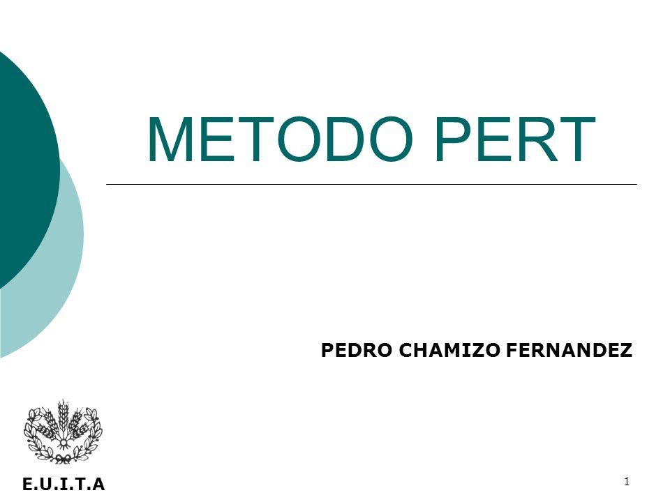 1 METODO PERT PEDRO CHAMIZO FERNANDEZ E.U.I.T.A
