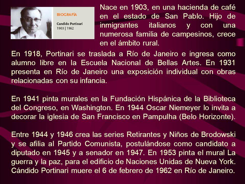 Nace en 1903, en una hacienda de café en el estado de San Pablo. Hijo de inmigrantes italianos y con una numerosa familia de campesinos, crece en el á