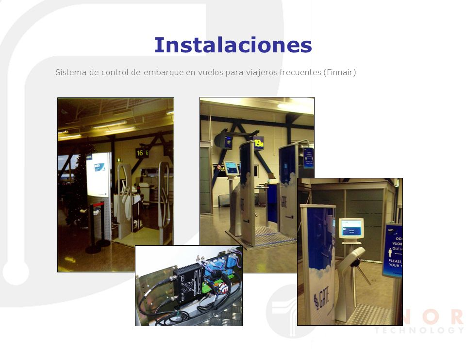 Instalaciones Sistema de control de embarque en vuelos para viajeros frecuentes (Finnair)