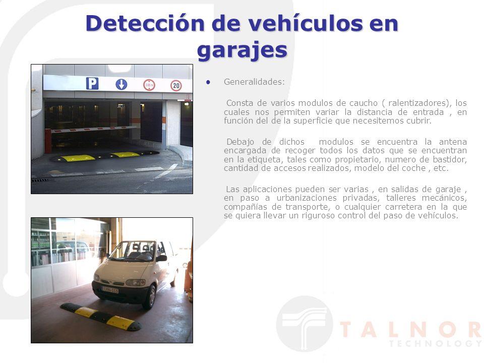 Detección de vehículos en garajes Generalidades: Consta de varios modulos de caucho ( ralentizadores), los cuales nos permiten variar la distancia de entrada, en función del de la superficie que necesitemos cubrir.