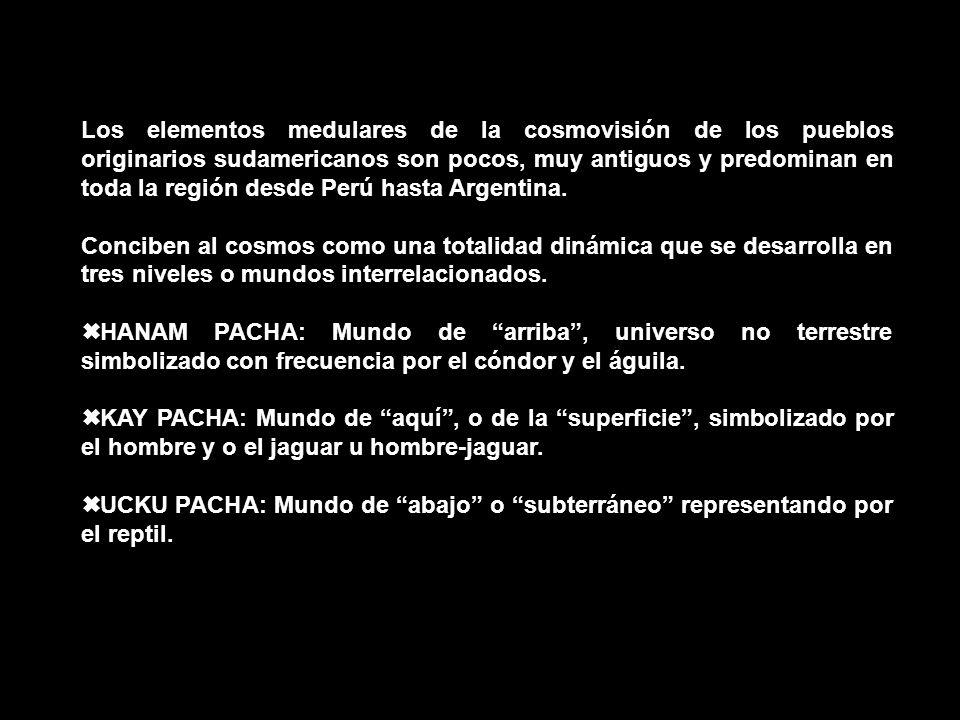 Los elementos medulares de la cosmovisión de los pueblos originarios sudamericanos son pocos, muy antiguos y predominan en toda la región desde Perú hasta Argentina.