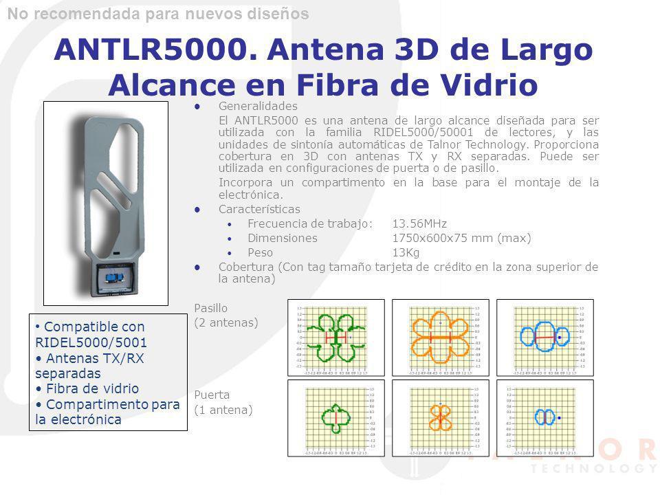 ANTLR5000. Antena 3D de Largo Alcance en Fibra de Vidrio Generalidades El ANTLR5000 es una antena de largo alcance diseñada para ser utilizada con la