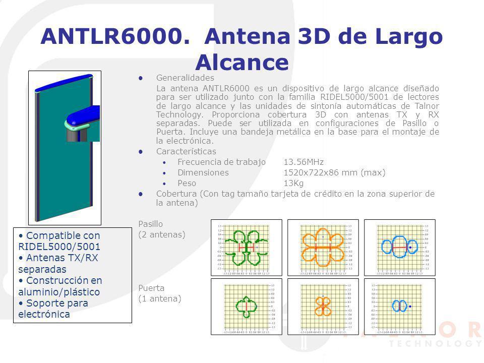 ANTLR6000. Antena 3D de Largo Alcance Generalidades La antena ANTLR6000 es un dispositivo de largo alcance diseñado para ser utilizado junto con la fa