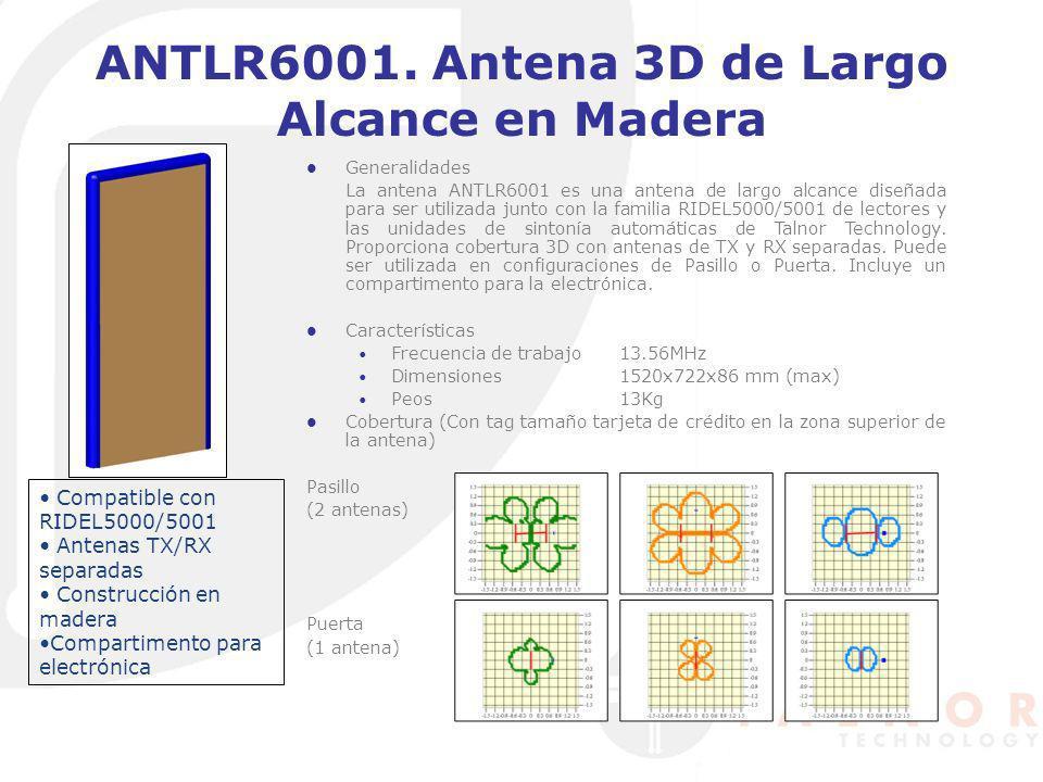 ANTLR6001. Antena 3D de Largo Alcance en Madera Generalidades La antena ANTLR6001 es una antena de largo alcance diseñada para ser utilizada junto con