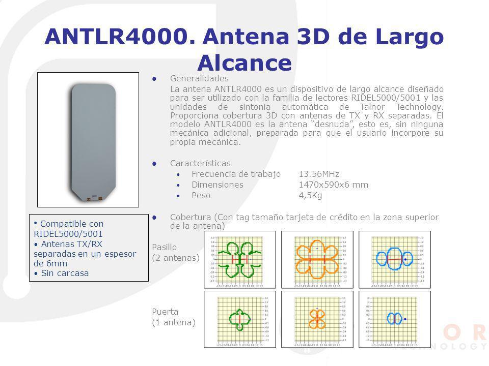 ANTLR4000. Antena 3D de Largo Alcance Generalidades La antena ANTLR4000 es un dispositivo de largo alcance diseñado para ser utilizado con la familia