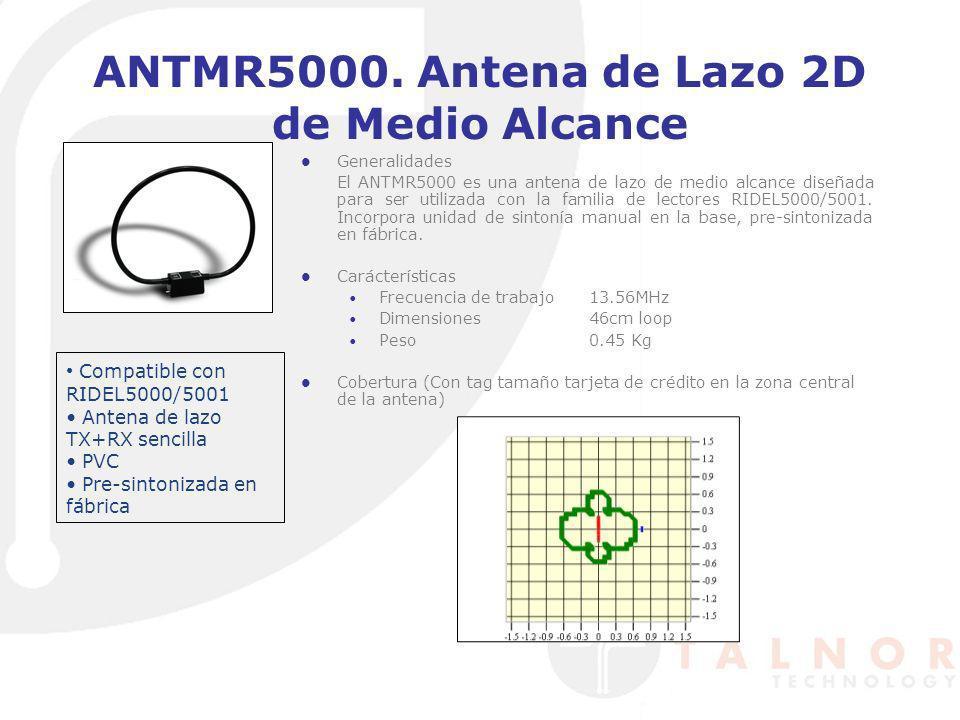 ANTMR5000. Antena de Lazo 2D de Medio Alcance Generalidades El ANTMR5000 es una antena de lazo de medio alcance diseñada para ser utilizada con la fam