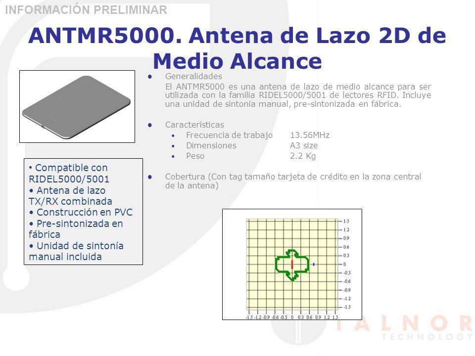 ANTMR5000. Antena de Lazo 2D de Medio Alcance Generalidades El ANTMR5000 es una antena de lazo de medio alcance para ser utilizada con la familia RIDE