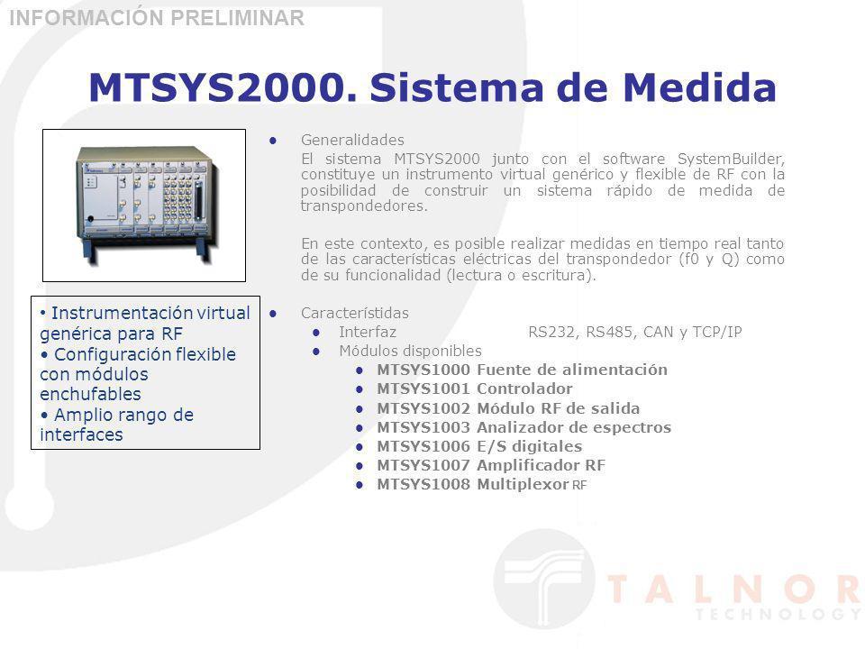 MTSYS2000. Sistema de Medida Generalidades El sistema MTSYS2000 junto con el software SystemBuilder, constituye un instrumento virtual genérico y flex
