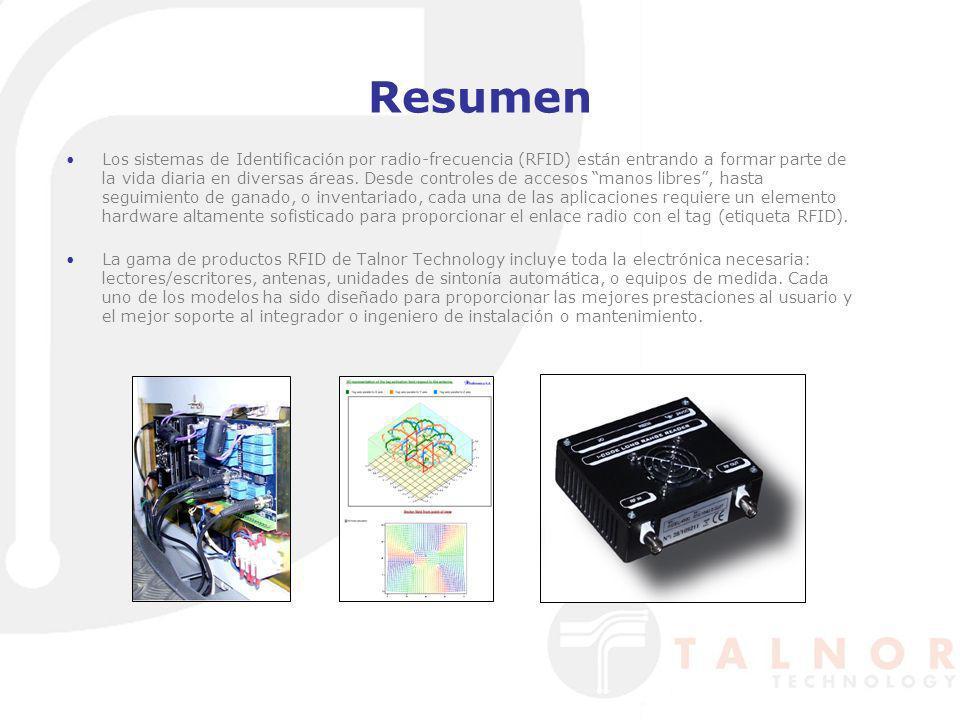 Resumen Los sistemas de Identificación por radio-frecuencia (RFID) están entrando a formar parte de la vida diaria en diversas áreas. Desde controles