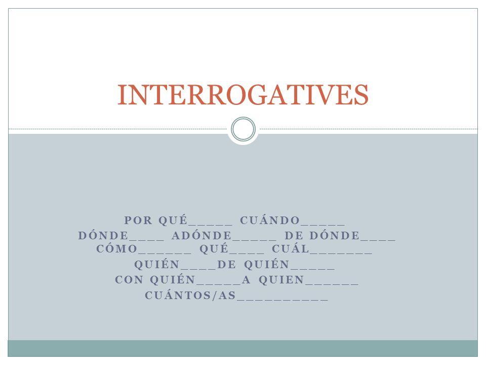 Qué/Cuál Qué- Means ______ most of the time.