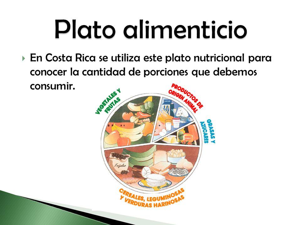 En Costa Rica se utiliza este plato nutricional para conocer la cantidad de porciones que debemos consumir.
