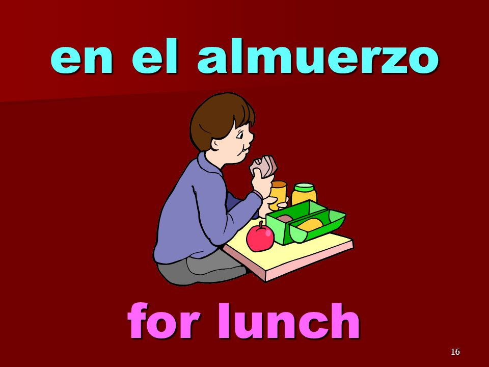 15 To talk about lunch