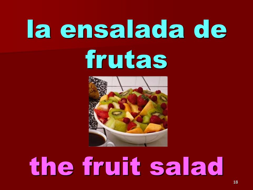 17 la ensalada the salad