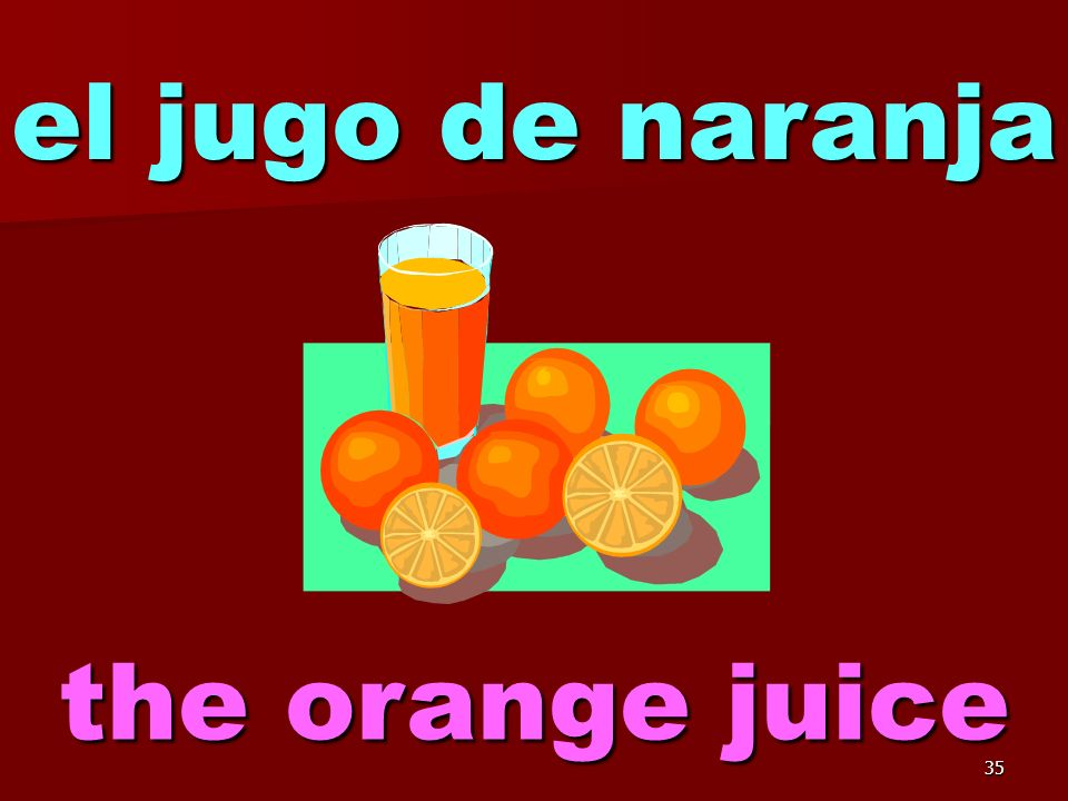 34 el jugo de manzana the apple juice